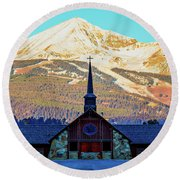 Round Beach Towel featuring the photograph The Soldiers Chapel by Pete Federico