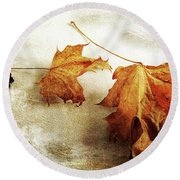 Round Beach Towel featuring the photograph The Sound Of Autumn by Randi Grace Nilsberg