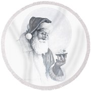 The Spirit Of Christmas Vignette Round Beach Towel