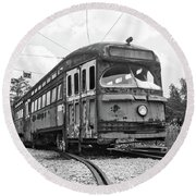 The Streetcar Round Beach Towel