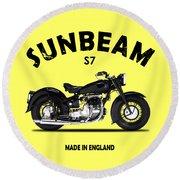 The Sunbeam S7 Round Beach Towel