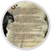The Tale Of Two Wolves Round Beach Towel
