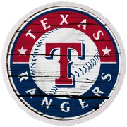 The Texas Rangers 3a Round Beach Towel