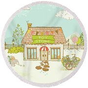 The Toy Store Round Beach Towel