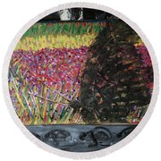 The Trickle Down Effect Round Beach Towel