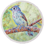 The Tufted Painterly Round Beach Towel