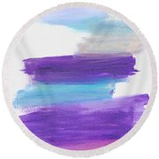 Round Beach Towel featuring the painting The Unconscious Mind by Bee-Bee Deigner