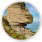 The Valley Of The Rocks Round Beach Towel