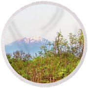 Round Beach Towel featuring the photograph The Venerable Mt Kilimanjaro by Kay Brewer