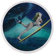 The Wedge - Duck Dive Round Beach Towel