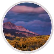 The Whisper Of Clouds Round Beach Towel