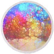 The Winter Path Dreams Of Summer Nights Round Beach Towel