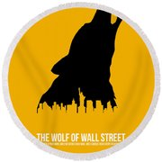 The Wolf Of Wall Street Round Beach Towel