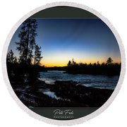 Round Beach Towel featuring the photograph The Yellowstone River by Pete Federico