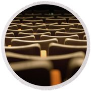 Theater Seats Round Beach Towel