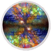 There Is Light Even In These Dark Roots Round Beach Towel