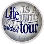 Think About It... Round Beach Towel