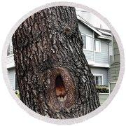 This Tree Sings Oprah Round Beach Towel