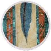 Threaded Feather Round Beach Towel