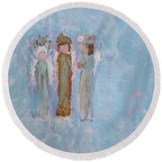 Angels For Appreciation Round Beach Towel
