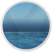 Three Layers Of Blue Round Beach Towel