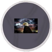 Thunder Eagle Round Beach Towel