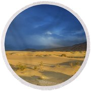 Thunder Over The Desert Round Beach Towel