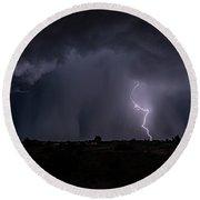 Thunderstorm #5 Round Beach Towel