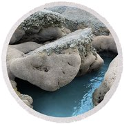 Tidal Pool 1 Round Beach Towel