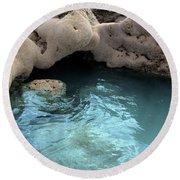 Tidal Pool 2 Round Beach Towel