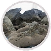 Tidal Pool 3 Round Beach Towel