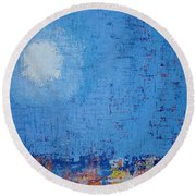 Tidepool Original Painting Sold Round Beach Towel