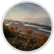 Tide's Out Round Beach Towel