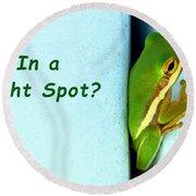 Tight Spot Round Beach Towel