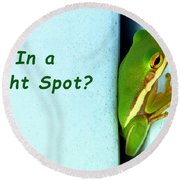Tight Spot Round Beach Towel