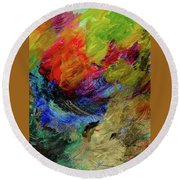 Time Changes Round Beach Towel