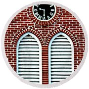 Time Slats Round Beach Towel