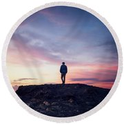 Time To Rise Round Beach Towel