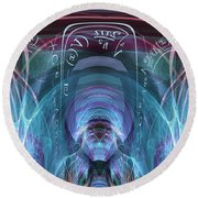 Time Traveler Round Beach Towel