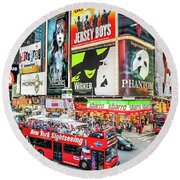 Times Square II Special Edition Round Beach Towel