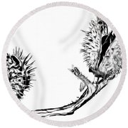 To Be Or Not To Be Round Beach Towel