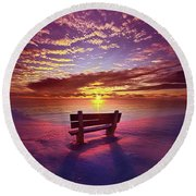 To Belong To Oneself Round Beach Towel