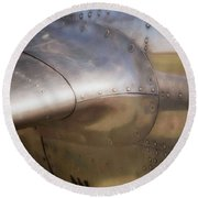 To Escape The Land Round Beach Towel