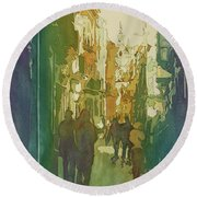 To The Cathedral Round Beach Towel