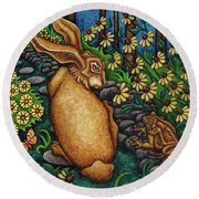Toad's Transgression Round Beach Towel