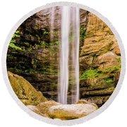 Toccoa Falls Round Beach Towel
