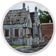 Tombs And Graves Round Beach Towel