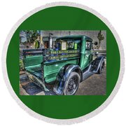 Tom's Electric Truck Round Beach Towel