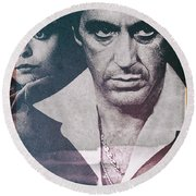 Tony Montana - Scarface 1983 Round Beach Towel