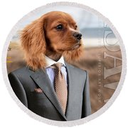 Top Dog Magazine Round Beach Towel